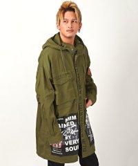 デコレーションビッグモッズコート/モッズコート メンズ ジャケット ミリタリー ビッグシルエット ビター系 BITTER