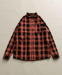 長袖チェックシャツジャケット