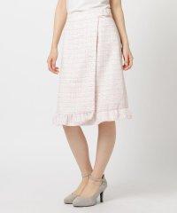 装飾バックルツイードスカート
