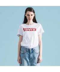 【WOMEN】THE PERFECT TEE NEW RED BOX TAB WHITE GR