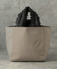 【CACHELLIE】FRILL HANDLE NYLON TOTE(S)
