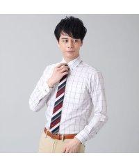 【ディズニー】ワイシャツ長袖形態安定 ボタンダウン ネイビー ジャスト