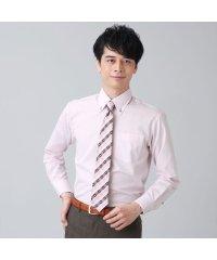 【ディズニー】ワイシャツ長袖形態安定ボタンダウンミッキーシェイプ織柄 ジャスト