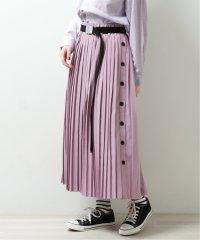 サイド釦プリーツスカート