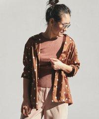 【別注】金子綾xMACPHEE ポリエステルドットプリント シャツジャケット