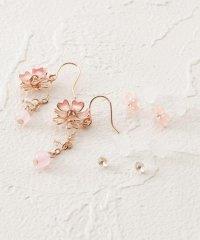 桜モチーフ3Pセットピアス