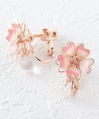 桜モチーフイヤリング