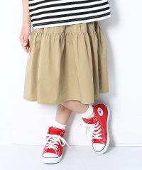 ティアードひざ丈スカート