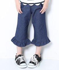 裾フレア7分丈パンツ