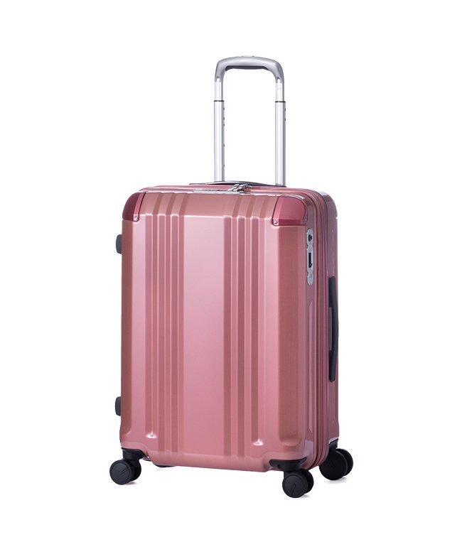 (ASIA LUGGAGE/アジアラゲージ)アジアラゲージ デカかる スーツケース Mサイズ 52L/60L ストッパー付き 軽量 ali−008−22w/ユニセックス ピンクゴールド