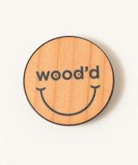 WOOD`D: リアルウッド スマホ グリップ