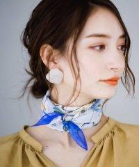 【洗える】花柄スカーフ