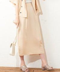 【natural couture】きれいめゆるタイトスカート