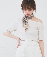 【natural couture】オフショルワイドリブT
