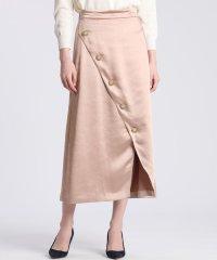 《大きいサイズ》フロントクロスサテンスカート 《Maglie par ef-de》