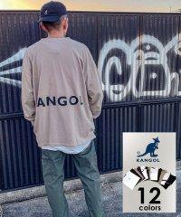 【KANGOL】カンゴール ビッグシルエット ミニロゴ刺繍 袖ロゴプリント バックロゴプリント 袖ロゴテープ 長袖Tシャツ 春
