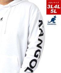 【KANGOL】カンゴール 大きいサイズ ビッグシルエット ミニロゴ刺繍 袖ロゴプリント 裏毛 パーカー 春