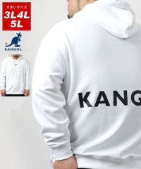 【KANGOL】カンゴール 大きいサイズ ビッグシルエット ミニロゴ刺繍 バックロゴプリント 裏毛 パーカー 春