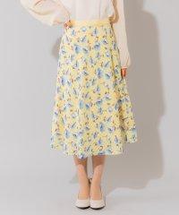 シアーチェックフラワースカート(0R10-02145)