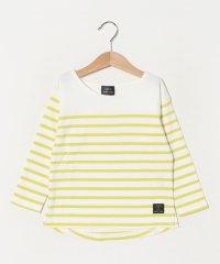 オーガニックコットン パネルボーダーTシャツ