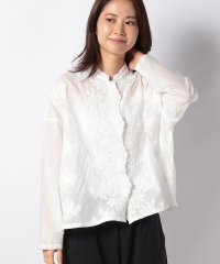 【mizuiro ind】stand collar lace wide shirt
