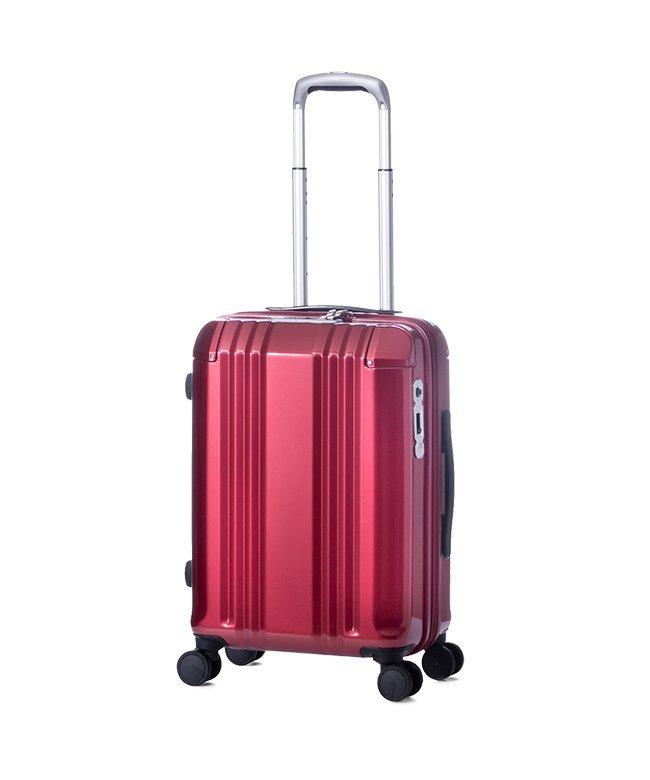 (ASIA LUGGAGE/アジアラゲージ)アジアラゲージ デカかる スーツケース 機内持ち込み Sサイズ 34L/40L 拡張 軽量 ストッパー付き ali−008−18w/ユニセックス レッド