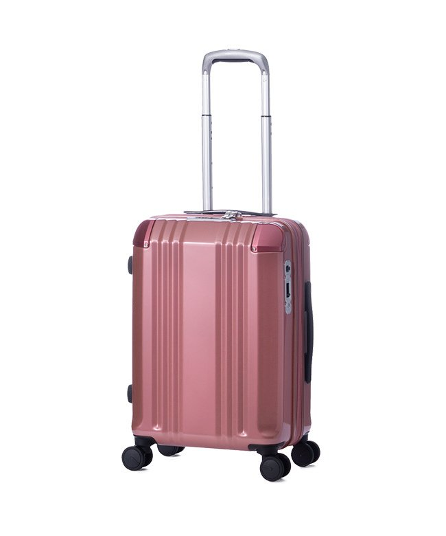 (ASIA LUGGAGE/アジアラゲージ)アジアラゲージ デカかる スーツケース 機内持ち込み Sサイズ 34L/40L 拡張 軽量 ストッパー付き ali−008−18w/ユニセックス ピンクゴールド