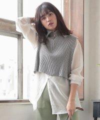 【2点SET】ハイネックニット×シャツ [C4488]