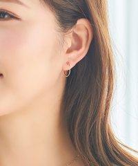 【K10】シンプルフープイヤリング