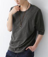 『ninefactoryシンプル6分袖Tシャツ』