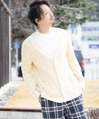 綿 天竺編み チルデンニット セーター カーディガン
