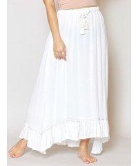 【Kahiko】レーヨンクレープ刺繍ロングスカート 4ID-0102