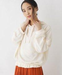 【M-L】フード付き裾フリルプルオーバー