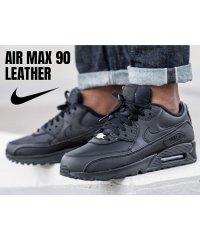 NIKE AIR MAX 90 LEATHER ナイキ エアマックス90 スニーカー メンズ レディース ブラック 黒 302519-001 [1/17 再入荷