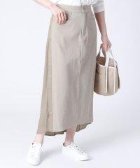 [MAITRESSE] サイドボタン 異素材スカート