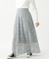 花レースロングスカート