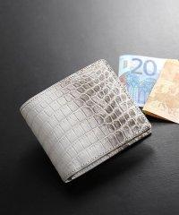ヒマラヤクロコダイルレザー二つ折り財布 日本製