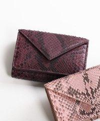 [HALEINE]ダイヤモンドパイソンレザー蛇革ミニ財布