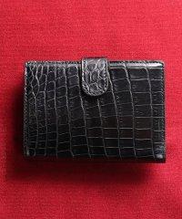 クロコダイルレザーミニ財布無双マット加工