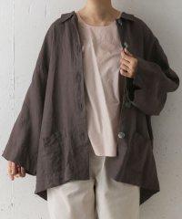 mizuiro ind linen wide shirts coat
