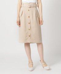 シングルボタンコクーンスカート