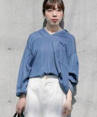 【WORKNOTWORK】キュプラデニムチュニックシャツ