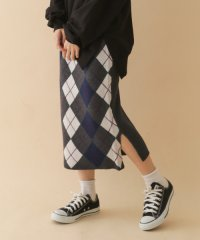 【ITEMS】アーガイルニットタイトスカート