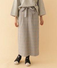 【ITEMS】ウエストリボンチェックロングスカート