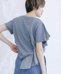 【KBF】異素材フリルTEE