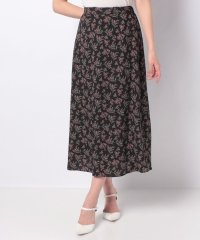 【セットアップ対応商品】花柄プリントロングスカート