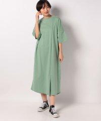 【SENSEOFPLACE】Tシャツワンピース(5分袖)