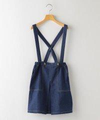 SHIPS KIDS:デニム ジャンパー スカート(140~150cm)