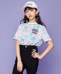 ロゴプリントタイダイ半袖Tシャツ