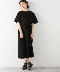 【AKIRA NAKA/アキラ ナカ】Rut stripe Tee dress BK:ワンピース